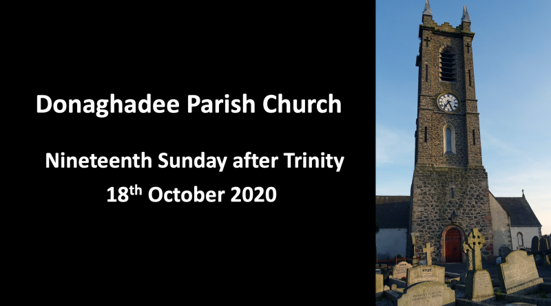 Sunday Service – 18th October 2020
